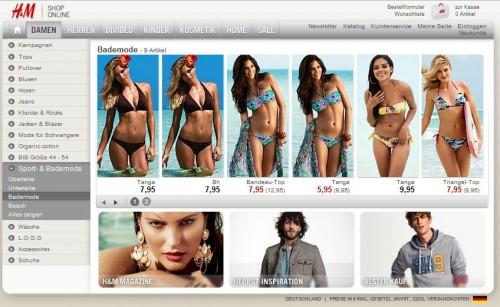 H&M (Hennes & Mauritz) Online-Shop