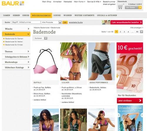Baur Online Shop