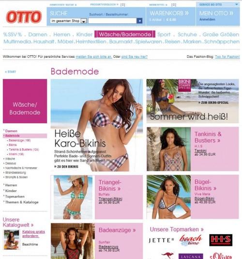 Otto Versand Bademodecom Online Shops Bademoden Bikini