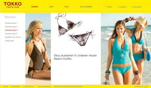 Kleider takko online shop