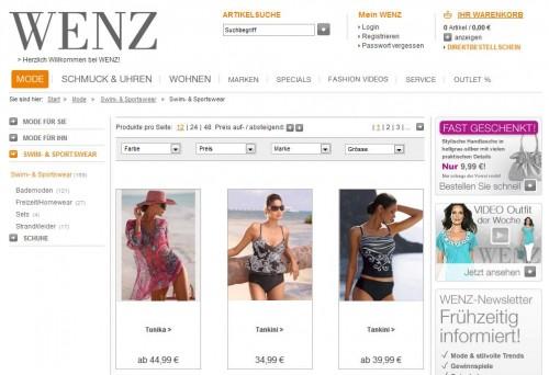 wenz.de Online-Shop