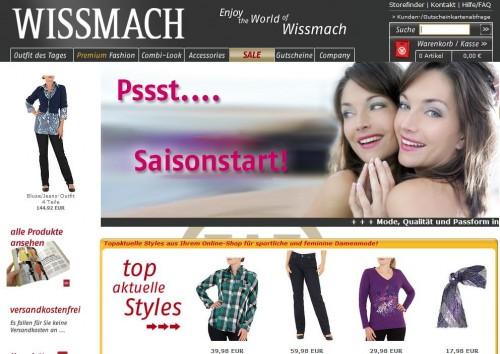 www.wissmach.com Online-Shop