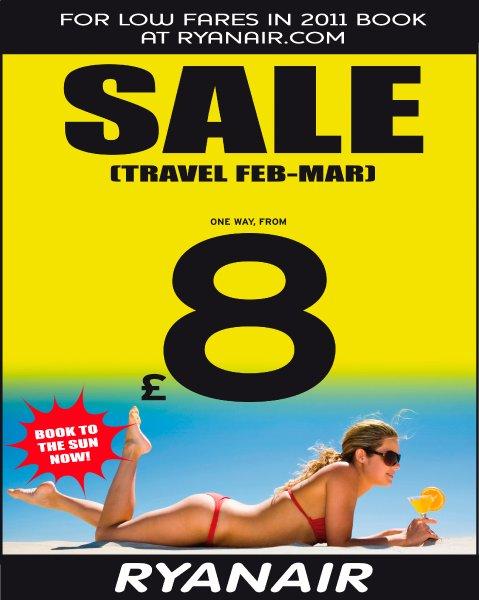 Bikini Model - Ryanair Werbung
